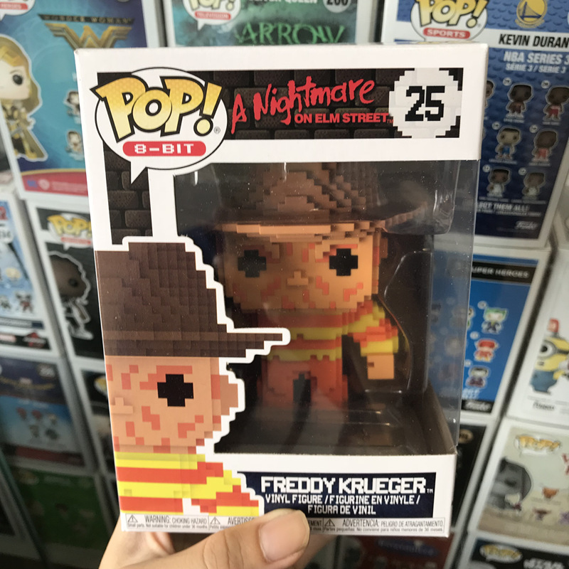 Exclusive Funko pop Official 8-Bit A <font><b>Nightmare</b></font> <font><b>on</b></font> <font><b>Elm</b></font> <font><b>Street</b></font> - Freddy Krueger Vinyl Action Figure Collectible Model Toy In Stock