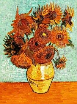 100%Handmade  Oil Painting Hand Vincent Van Gogh - Twelve Sunflowers 24*20 Reproduction Oil Painting