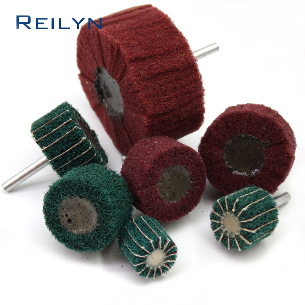 Scouring Sponge Polishing Bit Scouring Cloth Rust Moving Surface Clearing Bit 25mm 50mm  80mm For Rotary Tool
