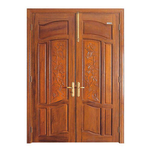 Exterior Wood Door /hand Carving Double Wood Door Design