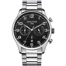 HOLUNS Brand Fashion Men's Full stainless steel Military Casual Sport Watch waterproof relogio masculino quartz Wristwatch Sale