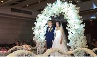 Высокая плотность Свадьба декоративный цветок арки искусственный гортензии дорога вела Цветы Свадебные цветы