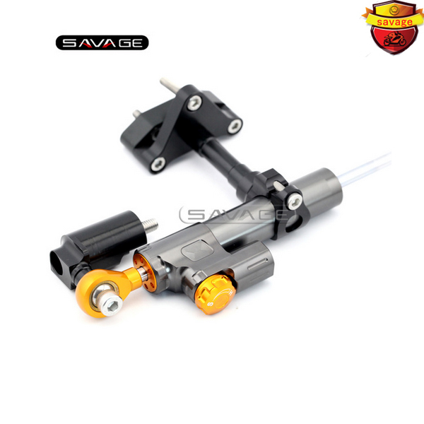 For YAMAHA YZF-R25 YZF-R3 2014 2015 2016 Motorcycle Accessories Steering Damper Stabilizer with Mount Bracket Kit C for yamaha yzf r25 yzf r3 2014 2015 motorcycle accessories steering damper gold