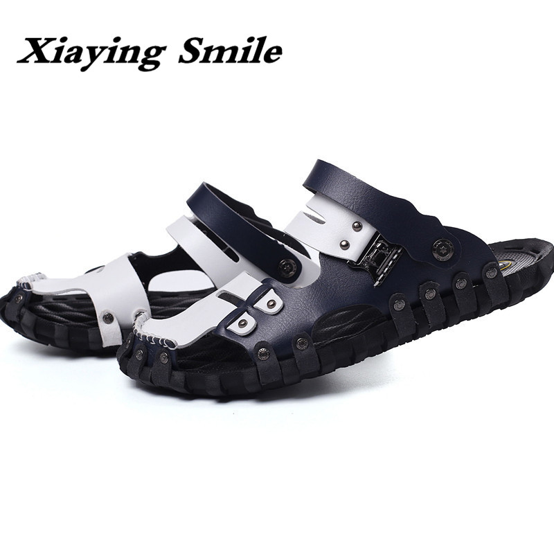 2018 Hot Sale Summer Classic Men Outdoor Casual Flats Sandals Fashion Summer Beach Shoes Cheap Top Quality Non-slip Slippers