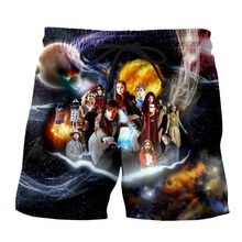 PLstar Cosmos Dropshipping Men Women 3d Casual Shorts Doctor Who Printed Breathable Jogger Fitness Unisex