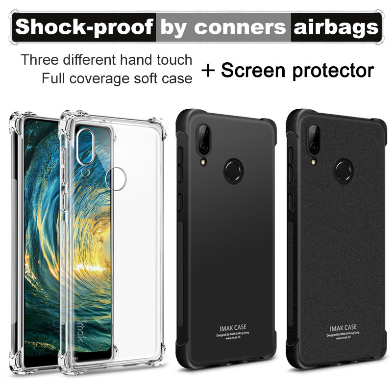 IMAK Cover Huawei P20 Lite Case Shockproof Anti-dropping Airbag Series Soft TPU Back Cover Huawei Nova 3E Case