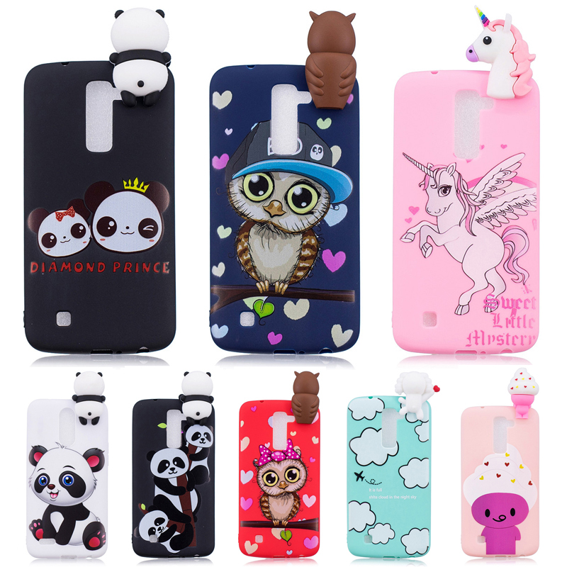 sports shoes 18a9f 95bae US $2.66 26% OFF 3D Soft Silicone TPU Case For LG K10 2016 Cute Panda Owl  Unicorn Phone Cases For LG K10 LTE K420N K430 K430DS Cover Coque K10-in ...