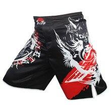MMA Boxing Knife Wolf Movement Cotton Loose Size Man Training Kickboxing Mma Fight Shorts Muay Thai Boxing Mma Shorts Trunks