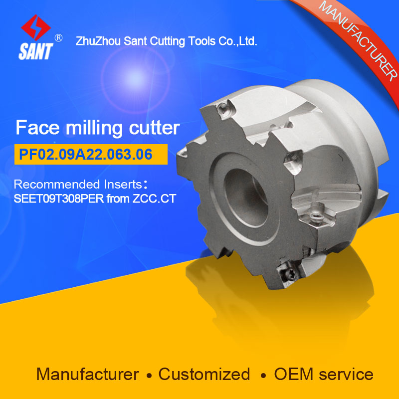 Applicable inserts FMP02-063-A22-SE09-06 indexable milling tools face milling cutter PF02.09A22.063.06Applicable inserts FMP02-063-A22-SE09-06 indexable milling tools face milling cutter PF02.09A22.063.06