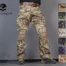 Мужские военные охотничьи БДУ штаны EMERSON Combat G3 тактические штаны с наколенниками Мультикам черные АОР Лесной