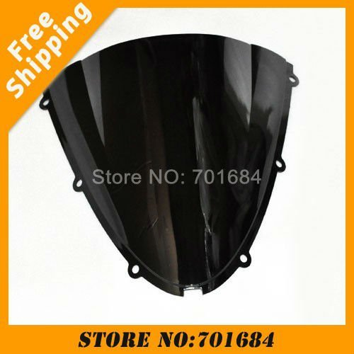 New Black Motorcycle Windshield Trim Shadow For Kawasaki ZX-6R 05-08 06 07 Windscreen Free Shipping [CK514]