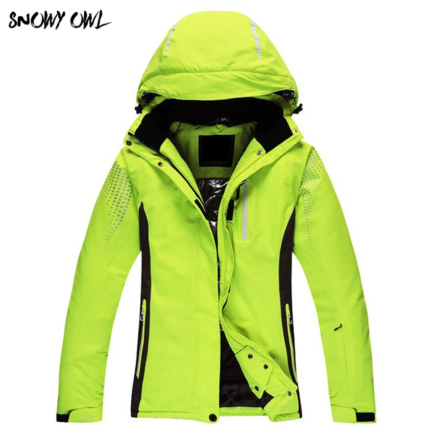 Новинка 2018 года для женщин Сплошной Лыжная куртка Зимние Sportwindproof сноуборд пальто kiing Сноубординг костюмы зимние куртки