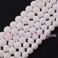 """Free Shipping 6-16mm Natural Round Carved Lotus White Shell Gem Stone For DIY Necklace Bracelet Jewelry Making Spacer Beads 15"""""""