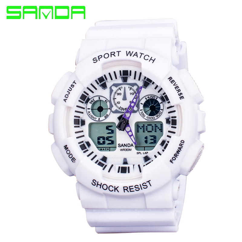 New Brand SANDA Fashion font b Watch b font Men Waterproof Sports Military font b Watches