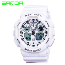 New Brand SANDA Fashion Watch Men Waterproof Sports Military Watches Shock Men's Luxury Analog Quartz Digital Watch