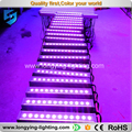 Free shipping 6pcs/lot stage equipment IP65 12x10w led wall washer linear Bar RGBW LED lighting bar