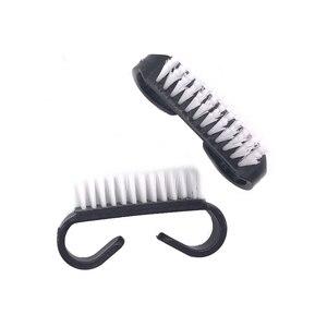 Image 4 - 100 adet/grup Nail Art Toz Fırçası Manikür Araçları Siyah Temizleme Toz Akrilik Fırça Küçük Açı Yumuşak Jel Tırnak temizleme fırça