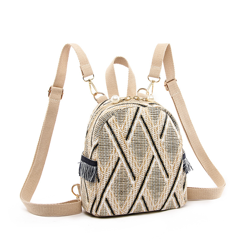 Hand woven Women 39 s Backpack Casual Bohemian Backpacks Teenager Girls Beach School Mochila Feminina Travel Shopping Sac A Dos in Backpacks from Luggage amp Bags