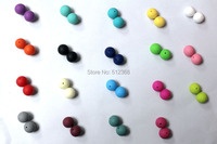 HOT!!! 20MM 20PCS/lot DIY Silicone Teething Necklace beads Food grade silicone Jewellery Round beads Free shipping