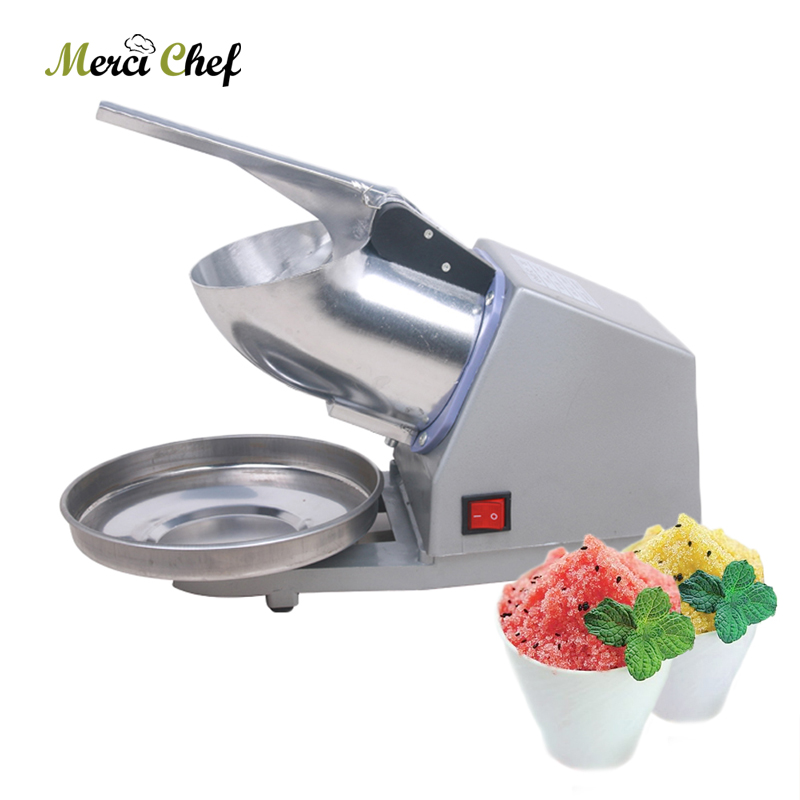 Electric Ice Crusher Ice Shaver Commercial DIY Ice Cream Maker Snow Cone Smoothie for Coffee Shop 110V-240V stainless steel electric ice shavers crusher chopper ice slush maker icecream snow cone ice block breaking machine eu us plug