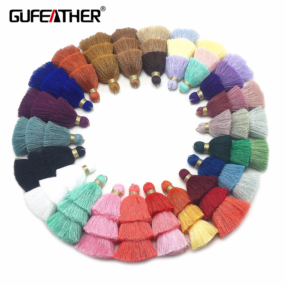 GUFEATHER L16/8CM/3 layer/cotton tassels/8cm/jewelry accessories/jewelry findings/accessories for jewelry/tassel accessories laete l16 143 1