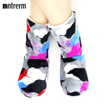 2017 New Winter Women Home Slipper Indoor Soft Slippers Warm Contton Printing House Plush Shoes Suitable For Giving Gifts
