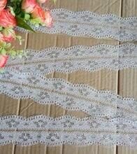 Metros de largura mm 12 55 branco tecido Bordado Net Guarnição Do Laço Acessórios De Vestuário fita headband do partido do casamento decoração DIY #95656