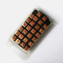DIY 26 полые алфавит штамп Инструменты комплект Leather Craft Вырезка Инструменты старший заглавные буквы печати Медь с полюс