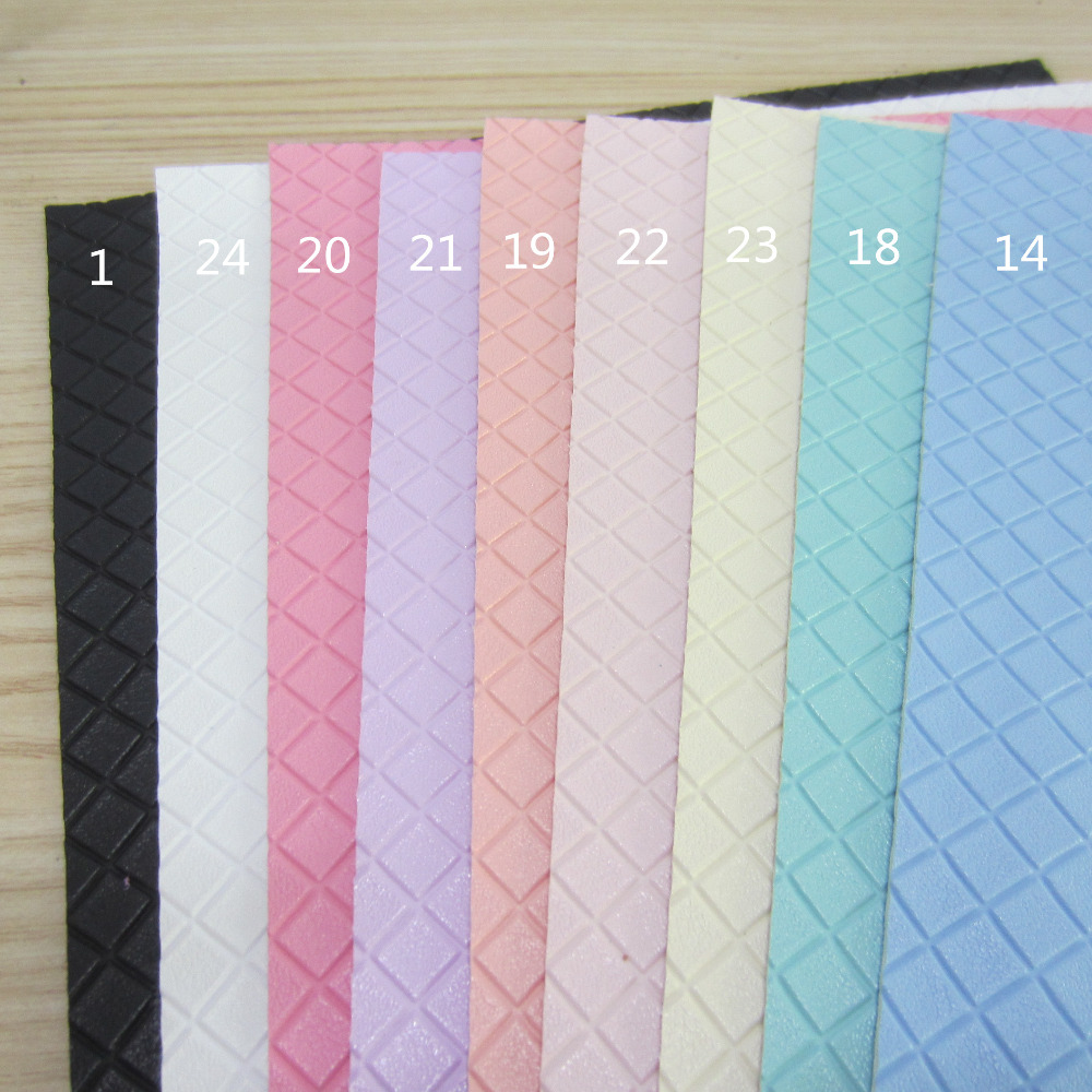 Synthetic Leather A4 Sheet 8x 11 Embossed Square Synthetic Faux Pu Leatherette Leather Fabric For Bows Bags Craft Diy Project 1pieces F0225 Available In Various Designs And Specifications For Your Selection Back To Search Resultshome & Garden