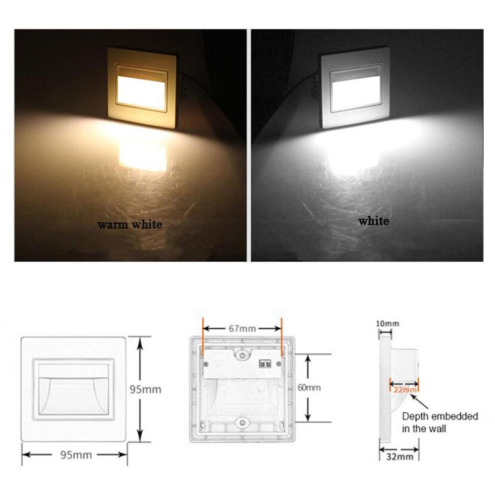 whit 86 86x86mm parede nightlight luz passo 03