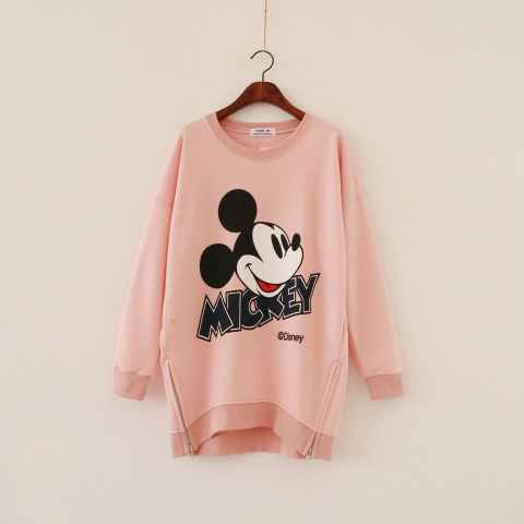 maternity clothes 2016 autumn and winter maternity dresses Mickey thick loose sweater pregnant women #116qi