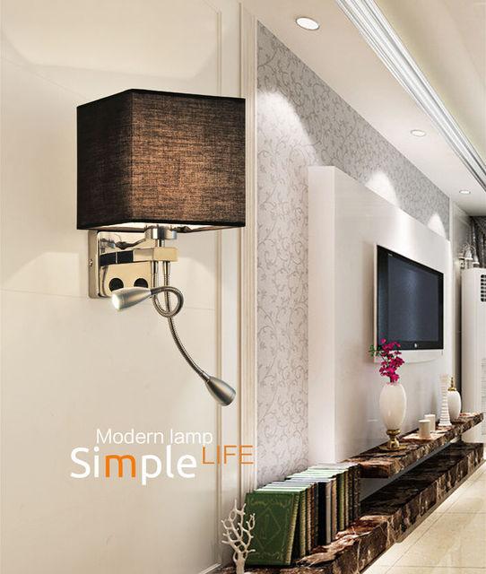 Moderna 2 led wall light bed lampada lettura illuminazione camera da ...