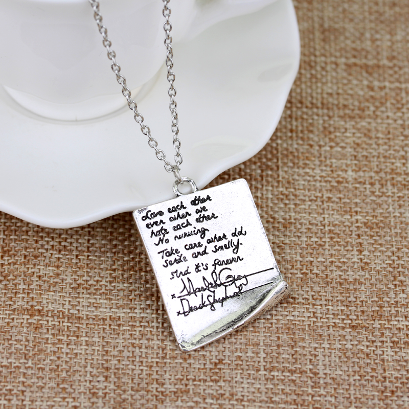 Greys Anatomy Quote Grey Letter Necklace Inspired Meredith & Derek ...