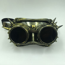 Steampunk Goggles Glasses Punk Gothic Welding Retro Cyber Vintage Cosplay Party Mask Adult Halloween Ball Costume Props(China)