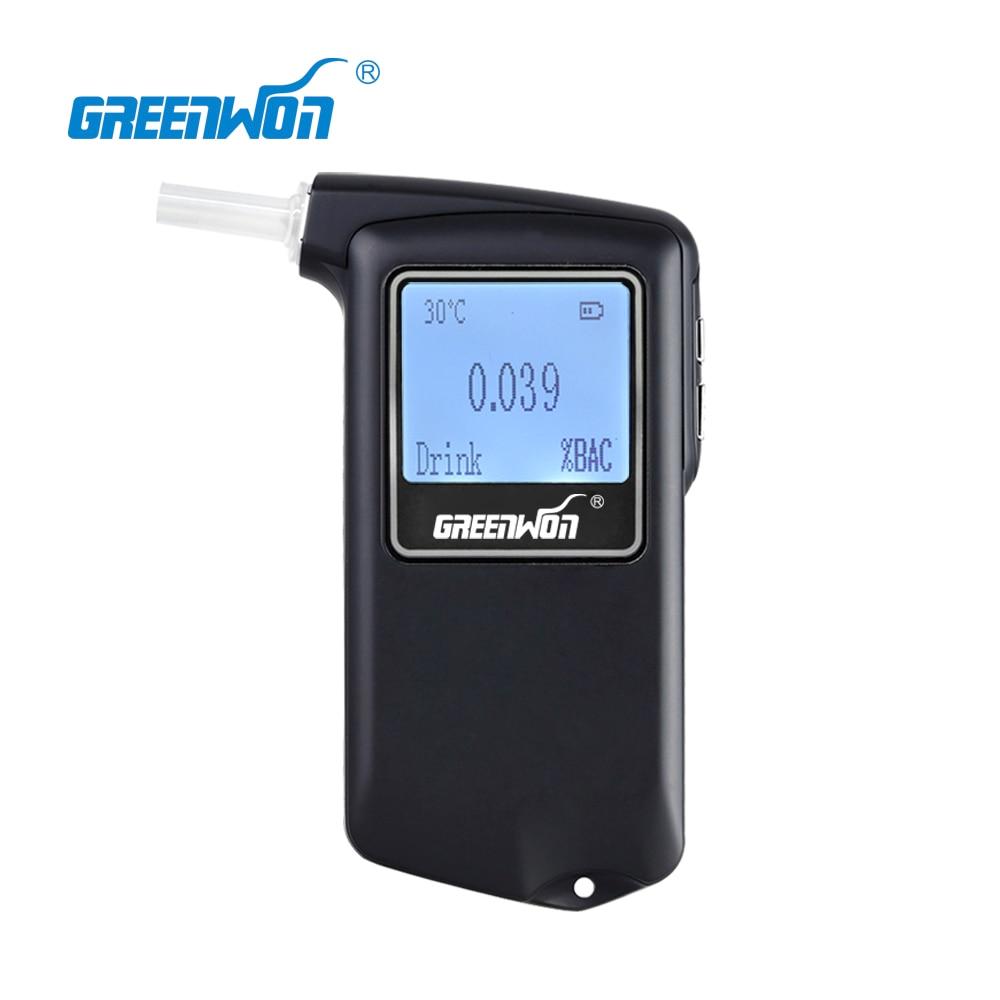 2019 GREENWON Prefessional Police Digital Fuel cell sensor breath alcohol tester Breathalyzer AT 868F Free Shipping