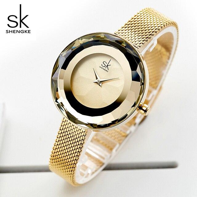 Модные женские кварцевые часы SHENGKE