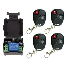 Mini Size DC 12V 1CH 1CH 10A RF Wireless Remote Control Switch System, (Receiver+ Transmitter) ,315/433.92 MHZ (A=ON,B=OFF) long range remote control switch dc 12v 1ch 10a relay receiver transmitter learning code light lamp wireless switch 315 433 4065