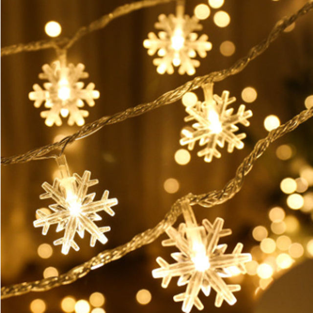 2M 3M 4M 5M 10M Christmas Tree Snow Flakes Led String Fairy Light Xmas Party Home Wedding Garland Christmas Indoor Decorations
