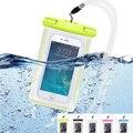 Плавать Пляж Водонепроницаемый Мешок Подводный Световой Чехол Для Samsung GALAXY NOTE 5 4 3 2 1 A5 A7 обложка Для iphone 6 S 6 splus Funda
