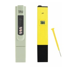 Tipo Pluma portátil Medidor de PH Digital + TDS Probador de Análisis de Agua Monitor de PH Metros para la Piscina Del Acuario de Agua Medidor De Calidad Del Agua de Laboratorio