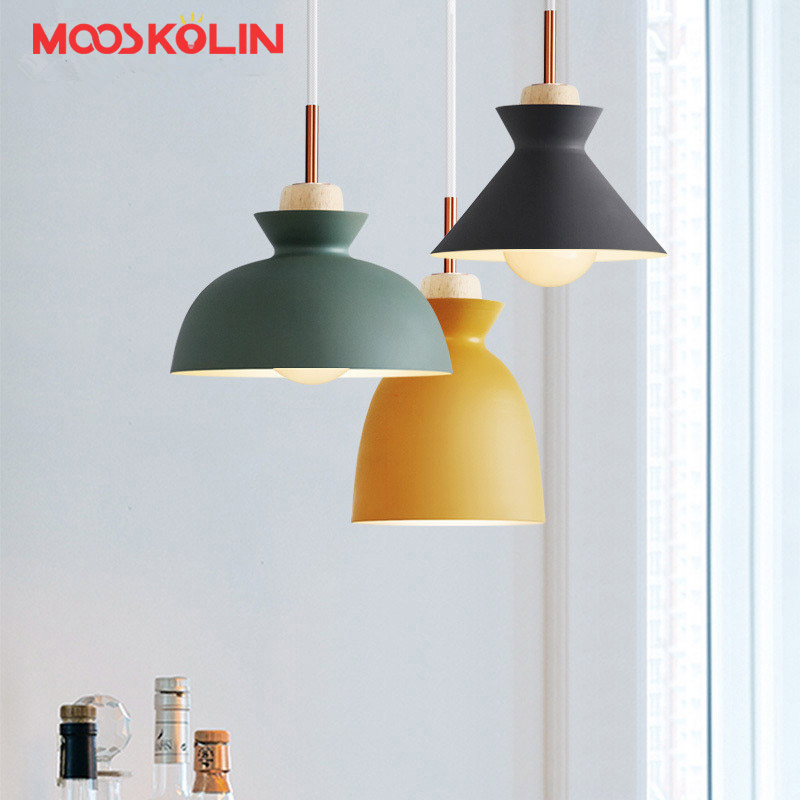 Scandinavian Nordic Led Pendant Lights For Home Lighting Modern Hanging Lamp Wooden iron Lampshade E27 LED Bedroom Kitchen Light nordic wood pendant lights for home lighting modern hanging lamp wooden lampshade led droplight bedroom kitchen light fixture