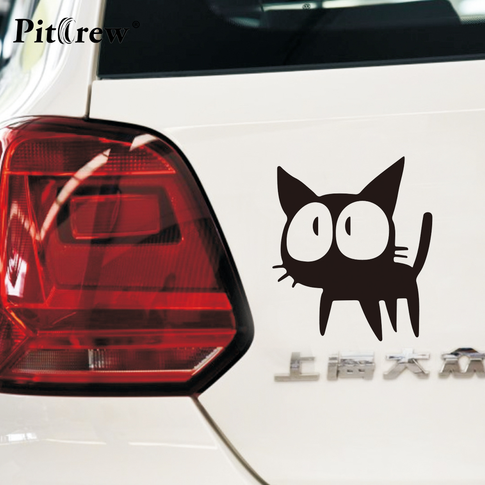 Sticker design for car online - 1pc 12 7 11cm Cafe Kichijoji Black Cat Lovely Animal Car Styling Anime Motorcycle Car Stickers