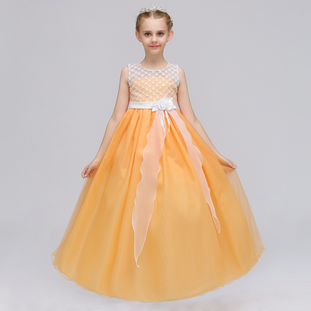 Real Photos little   flower     girls     dresses   for weddings Baby Party frocks sexy children   Dress   kids prom   dresses   evening gowns