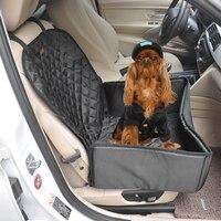 Boruit أسود نايلون للماء كلب مقعد السيارة تغطية 45*40*20 سنتيمتر العالمي سيارة مقعد تغطية pet الكلب الناقلين مقعد السيارة غطاء
