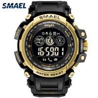 SMAEL digital watches Men hours watch men's outdoor clock alarm chronograph sports Bluetooth Pedometer shock erkek kol saati