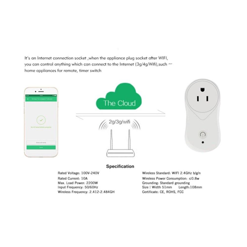 Smart Plug Wifi Socket Wireless Switch Voice
