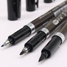3 pz/set pennello penna calligrafia penna parole cinesi apprendimento cancelleria studente disegno pennarelli materiale scolastico