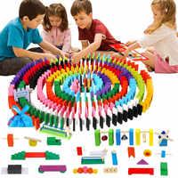 120 teile/satz Farbige Holz Domino Institution Zubehör Kinder Spielzeug eltern-kind-Interaktive Dominosteine Spiel Holz Blöcke Kind Spielzeug