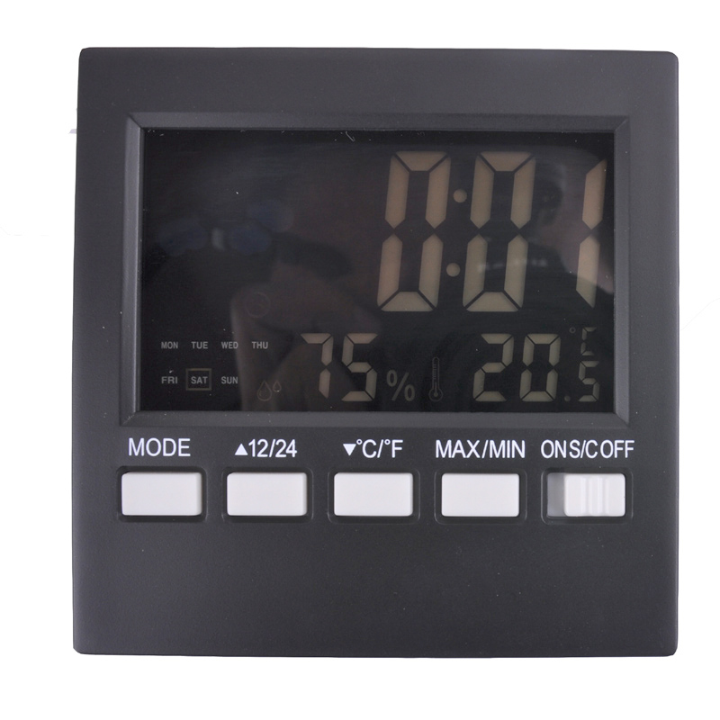 Free shipping, liquid crystal screen meteorological thermometer, multi function indoor and outdoor temperature and humidity