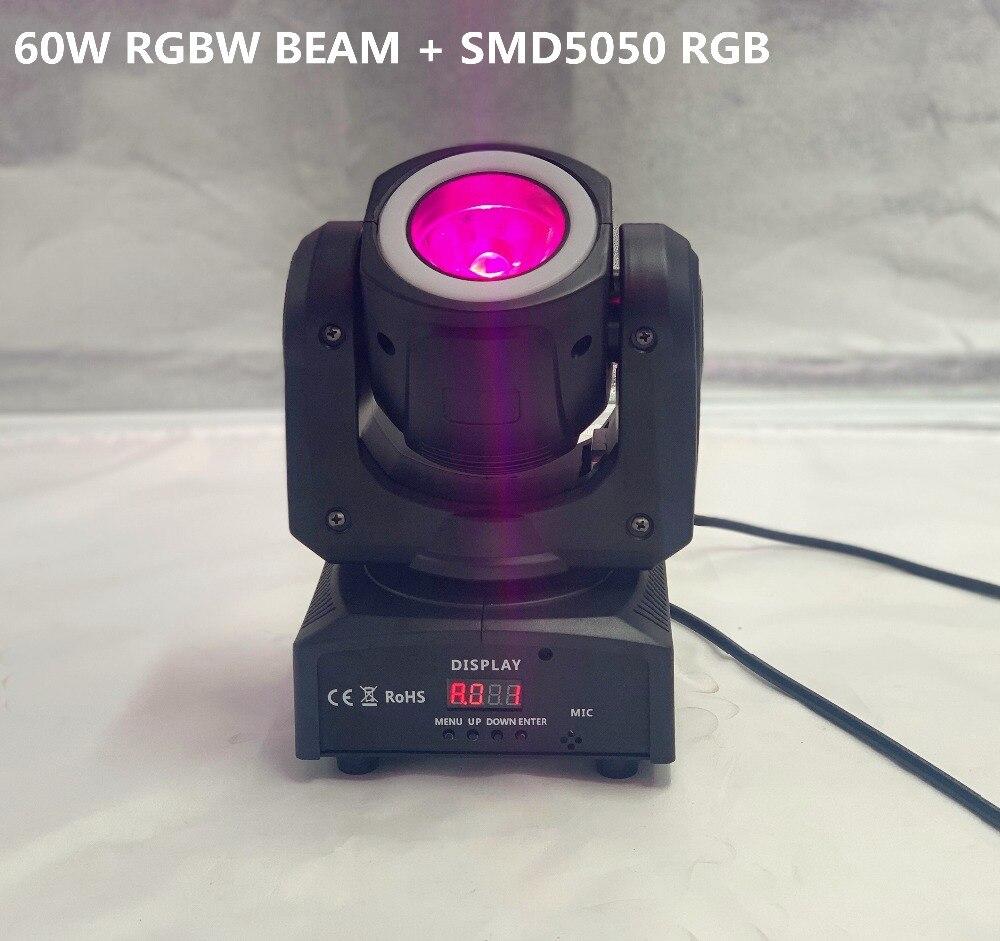 iluminacao dj mini moving head led 60 w feixe de luz do estagio levou com 12led